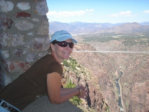 Regina looking over the Royal Gorge