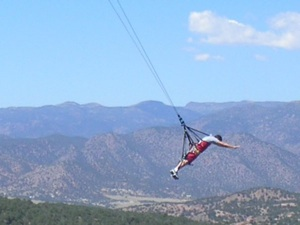 Ron flying over the Royal Gorge